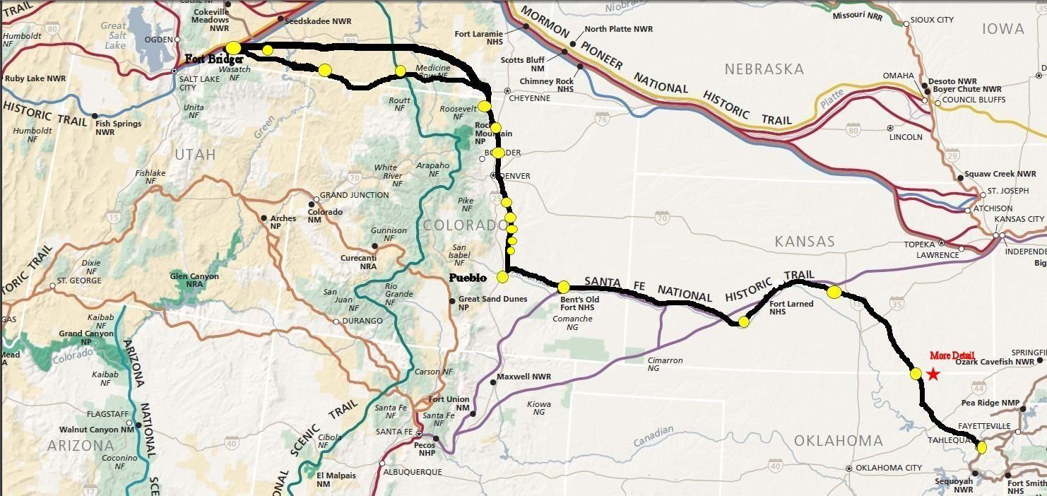 Cherokee Trail Virtual Map